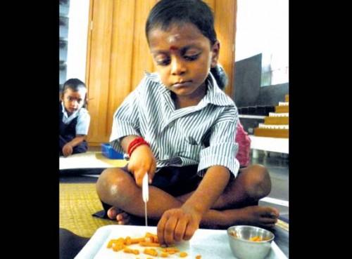 Монтессори-ребенок в Индии